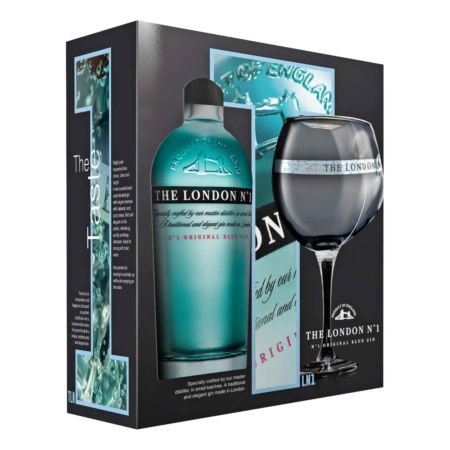 The London No.1 Blue Gin-Set mit Glas 70 cl