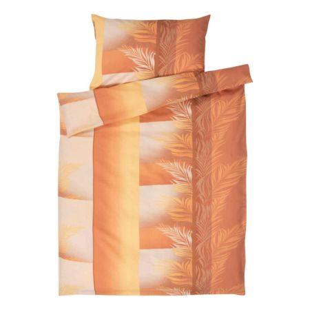Bettwäsche orange gemustert