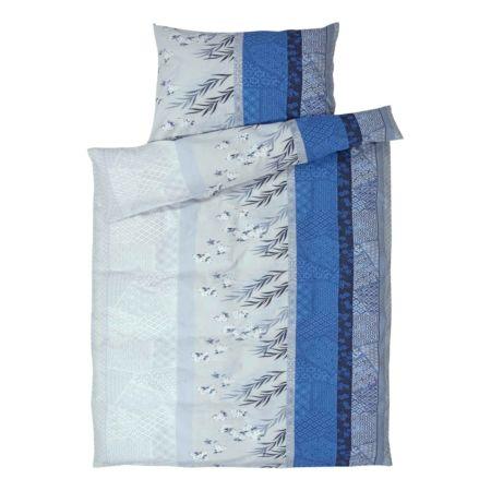 Bettwäschesett blau gemustert