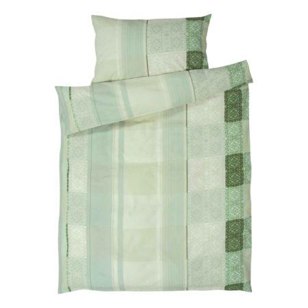 Bettwäsche grün gemustert