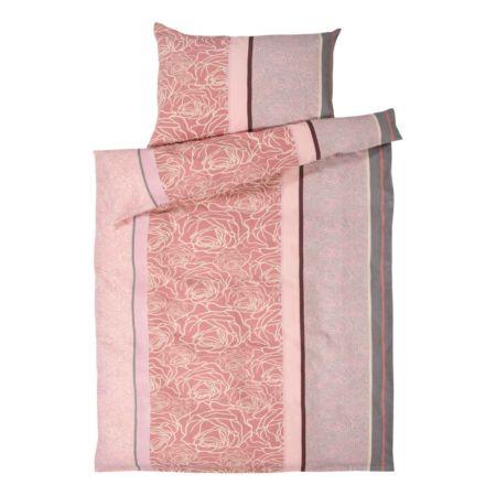 Bettwäsche rosa gemustert
