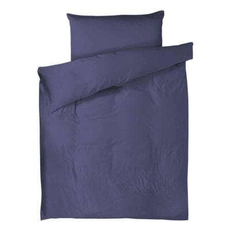 Bettwäsche Satin uni dunkelblau