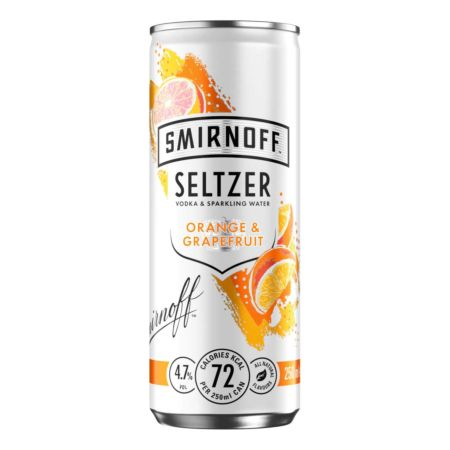 Smirnoff Seltzer Orange & Grapefruit 25 cl