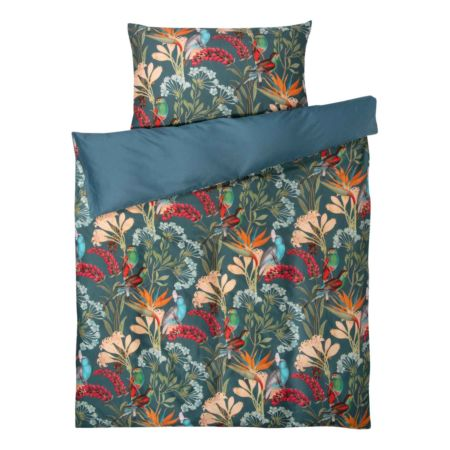 Bettwäsche mit Blumen und Vögel