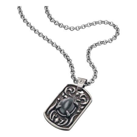 Police Edelstahl-Halskette mit Plaketten-Anhänger Spectre