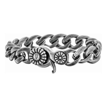 Police Herren-Panzerketten-Armband Floral