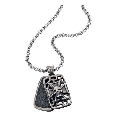 Police Edelstahl-Halskette mit Plaketten-Anhänger Wraith