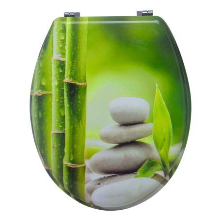 WC-Sitz Bamboo/Stone mit Absenkautomatik