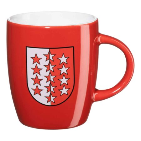 Kaffeetasse mit Wallis Fahne