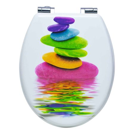 WC-Sitz Stone color mit Absenkautomatik