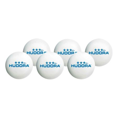 Hudora Tischtennisball *** 40+, 6 Stück