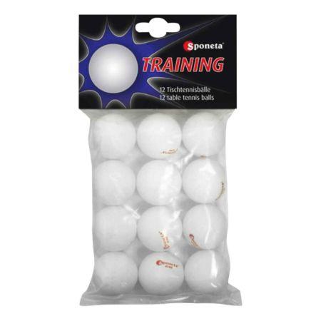 Sponeta Tischtennisbälle 12er-Pack weiss