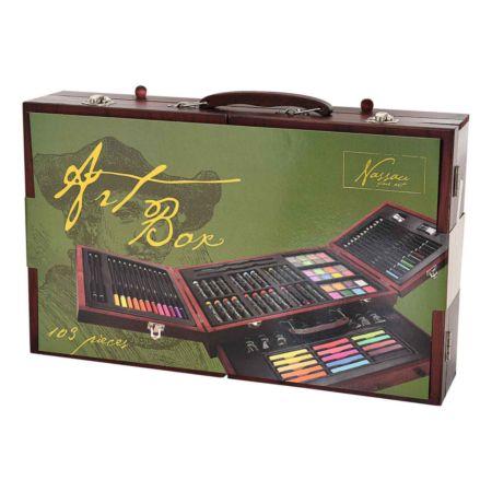 Nassau Fine Art - Art Box Holzkoffer 103 Teile