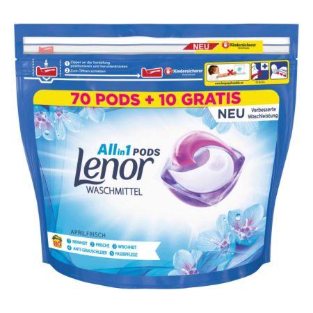 Lenor Waschmittel Pods All-in-1 Aprilfrisch 70 Pods + 10 GRATIS