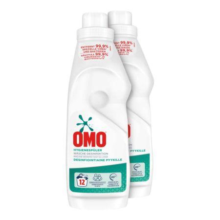 Omo Hygienespüler Wäsche-Desinfektion 2 x 12 Waschgänge