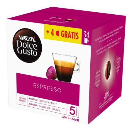 Nescafé Dolce Gusto Espresso 30 + 4 Kapseln