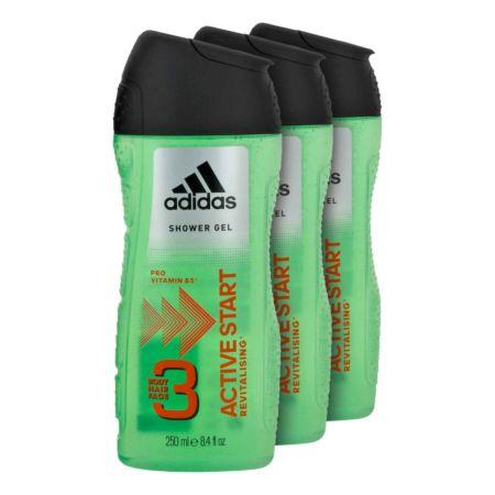Adidas Duschgel 3 in 1 Active Start 3 x 250 ml