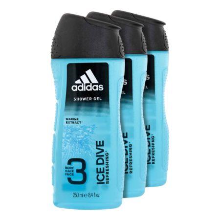 Adidas Duschgel 3in1 Ice Drive 3 x 250 ml