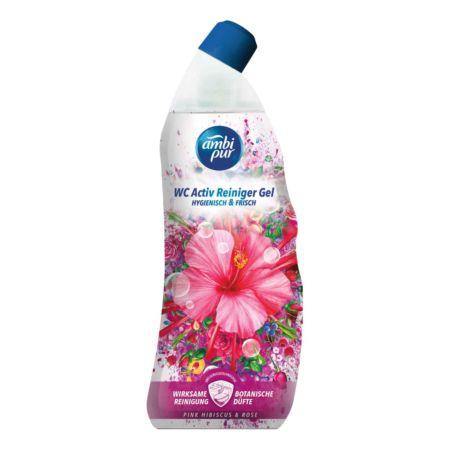 ambi pur WC Activ Reiniger Gel Pink Hibiskus & Rose 750 ml