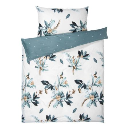 Bettwäsche mit Blumen und Herzchen
