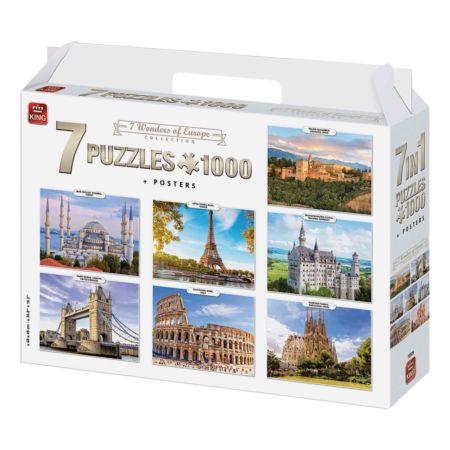 7 Wonders of Europe, 7 x 1000-teilige Puzzles