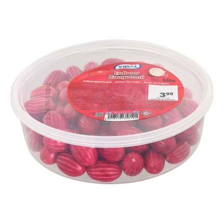 Vidal Bubble Gum Saure Erdbeeren 500 g