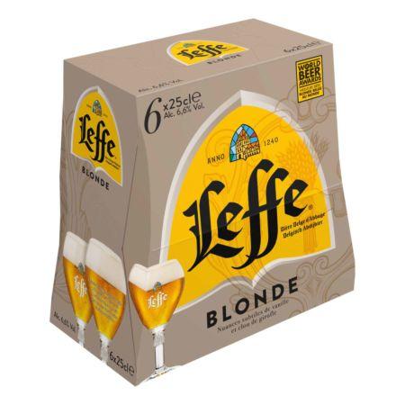 Leffe Blonde Bier 6 x 25 cl