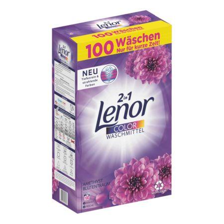 Lenor Waschmittel Pulver 2in1 Color Amethyst Blütentraum 100 Waschgänge