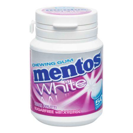 Mentos Gum Pure White Tutti Frutti 75 g