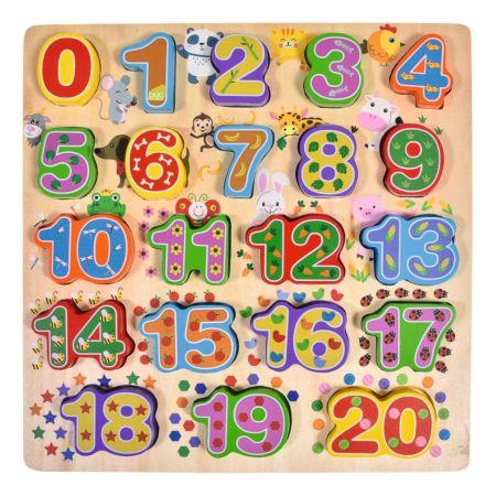 Holzpuzzle Zahlen
