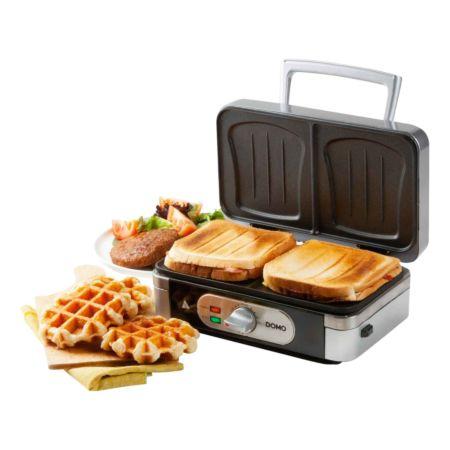 DOMO Sandwich-Waffel-Grill 3-in-1 DO9136C