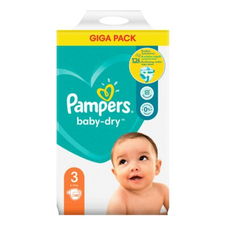 Pampers Baby-Dry Gr. 3, 6-10 kg, 140 Windeln