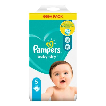 Pampers Baby-Dry Gr. 5, 11-16 kg, 112 Windeln