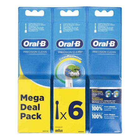 Oral-B Aufsteckbürste Precision Clean CleanMaximiser 6er Pack