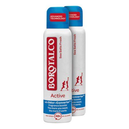 Borotalco Deo Spray Active Sea Salts Fresh 2 x 150 ml