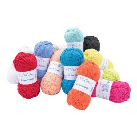 Filo Blu Handstrickgarn Cotton Happy 10 x 50 g