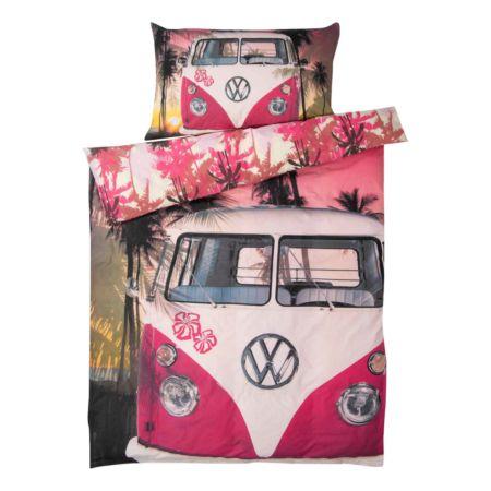 Bettwäsche VW Bus und Palmen