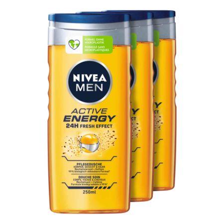 Nivea Men Dusch Active Energy 3 x 250 ml