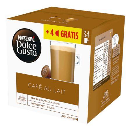 Nescafé Dolce Gusto Café au Lait 30 + 4 Kapseln