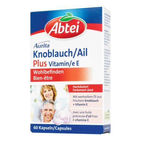 Abtei Knoblauch Plus Vitamin E 60 Kapseln