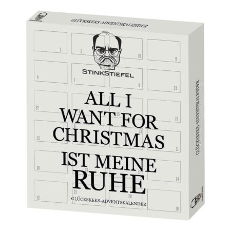 "Glückskekse Adventskalender ""All I Want For Christmas Ist Meine Ruhe"" 144 g"