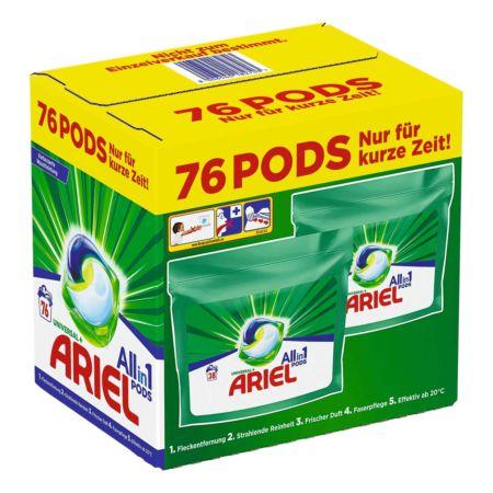 Ariel Waschmaschinenpods All-in-1 Universal 2 x 38 Waschgänge