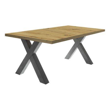 Tisch Magna mit X-Füssen ausziehbar, div. Farben und Grössen