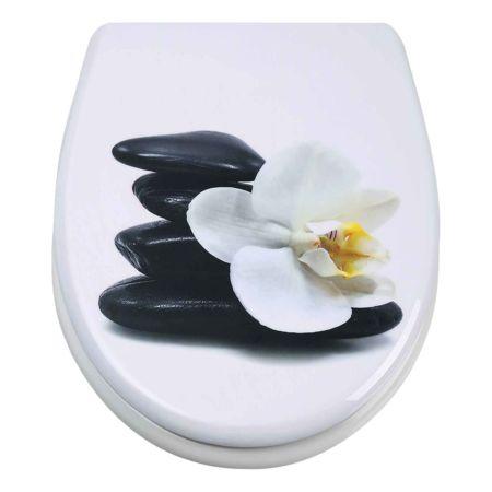 WC-Sitz Orchidee weiss mit Absenkautomatik