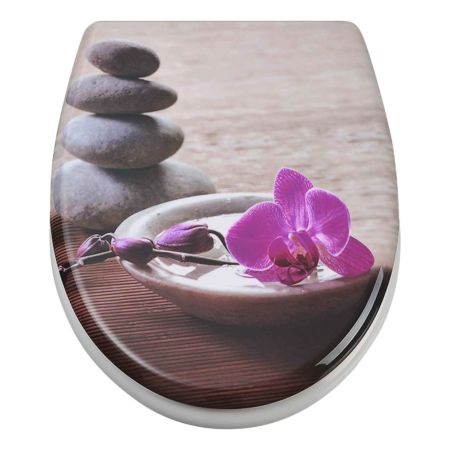 WC-Sitz Orchidee pink mit Absenkautomatik