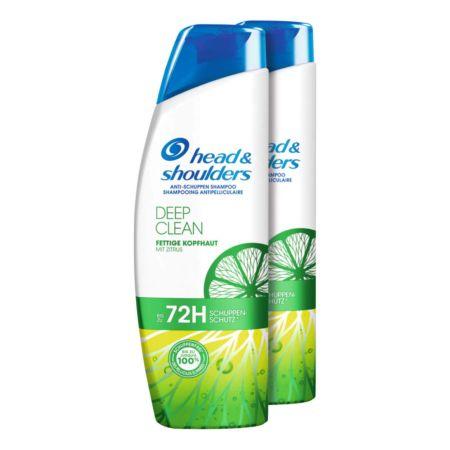 Head & Shoulders Shampoo Deep Clean Fettige Kopfhaut mit Zitrus 2 x 250 ml