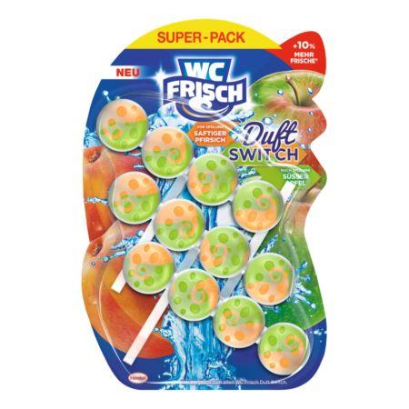 WC Frisch Einhänger Duft Switch Pfirsich & Apfel 3 x 50 g