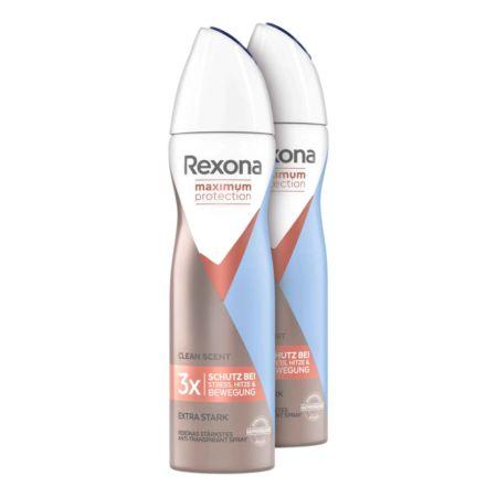 Rexona Maximum Protection Women Anti-Transpirant Deospray Clean Scent 2 x 150 ml