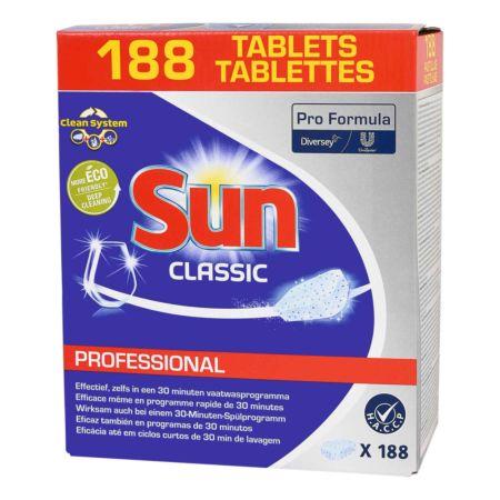 Sun Spülmaschinentabs Classic Professional Giga Pack 188 Tabs