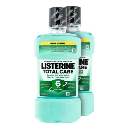 Listerine Mundspülung Total Care Zahnfleisch-Schutz 2 x 500 ml